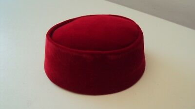 "Nigerian Traditional Yoruba ""Fila"" Men's Cap  ""Osinbajo"" Style Red 22 inches"