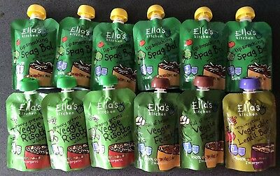 Ellas Kitchen 12pk Mix Variety Pouches 7mnth All Brand New And Sealed Organic