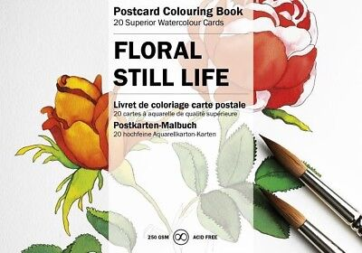 Floral Still Life: Postcard Colouring Book by Pepin Van Roojen.