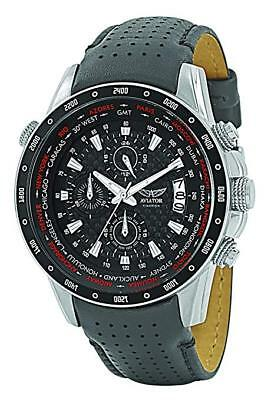 Aviator AVW7770G78 Men's WorldTime Chronograph Watch