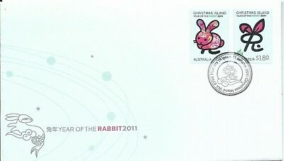 2011 Year of The Rabbit  FDI 11 Jan Christmas Island 6798  Special Postmark