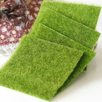 Scale Model Grass Mat Square Landscape Scenery Kids Toys Outdoor Game Accessorie