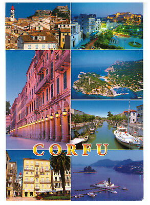 Corfu, Greece Rare Multiview Picture Postcard Postmarked 1st June 2007