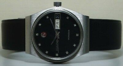 VINTAGE RADO Voyager AUTOMATIC DAY DATE SWISS WRIST WATCH OLD r950 Used