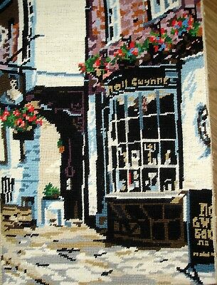 Vintage Cross Stitch Tapestry Picture Unframed Nell Gwynne Inn Public House