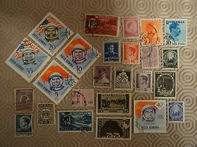 ROMANIA - 25 x DIFFERENT ROMANIAN USED STAMPS