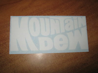 Mountain Dew - Vinyl Sticker - In White - New