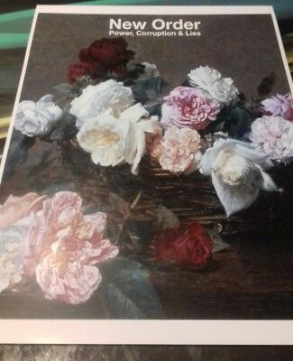New Order power corruption& lies promotional print A3 quality heavy canvas paper