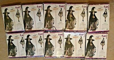 Joblot 10 Witch Lady Mystique Halloween Fancy Dress Costume Wholesale