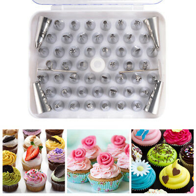 55pcs Flower Cake Cupcake Pastry Icing Piping Nozzle Tip Decorating Tool FA341