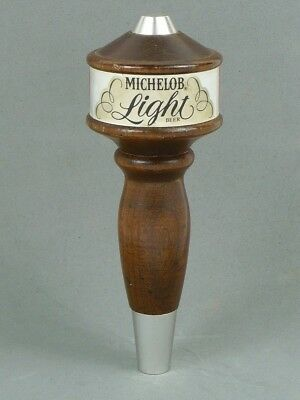 NEW 1970s MICHELOB LIGHT BEER 6¼ inch Wooden Tap Handle Tavern Trove