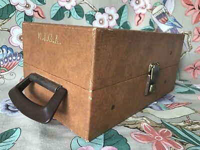 Vintage 1960s Hard Case Instument Tool Engineer Box Case Initialled