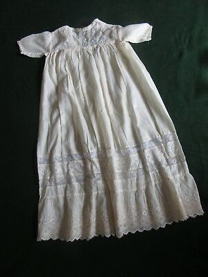 Antique Baby's Lace Christening Gown~Ecru Silk~Suitable for a Doll Too