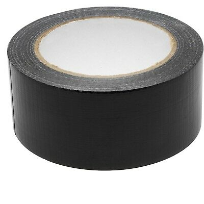 "WATERPROOF GAFFER DUCKT CLOTH TAPE 2"" 48mm X 50M BLACK 1,2,3,6,12,24 CHEAP"
