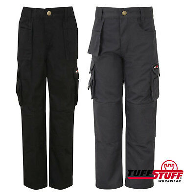 Tuff Stuff Pro Work Junior Trousers Kids 3-13 Yrs Boys Girls Workwear Cargo 711J
