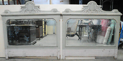 Pair of Large French Architectural Salvage Mirrors From Mansion in France