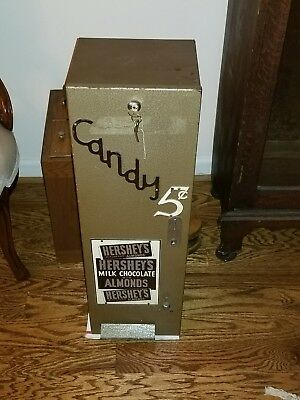 Antique 1920's Hershey Vending Machine 5 Cent Chocolate Candy bar strong box