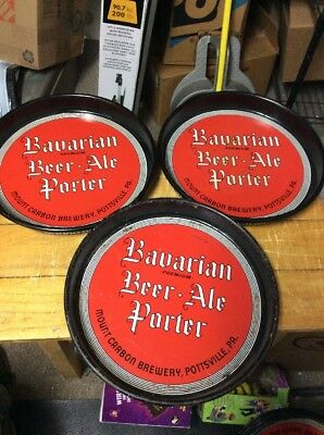 lot of 3 bavarian beer ale porter trays mount carbon brewery pottsville pa