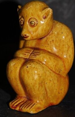 Charming Old Majolica Monkey Bretby Interest - Very Rare - L@@k - Info Welcome