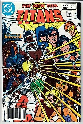 The New Teen Titans #34 -- Deathstroke!  -- additional items SHIP FREE!!  NICE