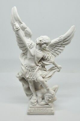 San Michele Arcangelo - statue made in Italy - h 23 cm