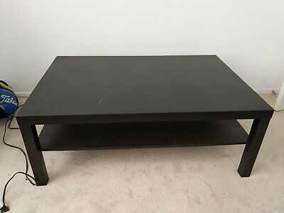 Coffee Table Lack Side End Black Brown Tv Stand Laptop Ikea Living Bed Room