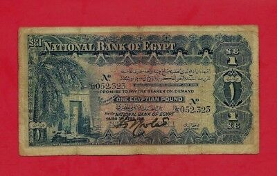 1918 one Egyptian pound temple Egyptian pound in f ++   no damage R/87,052,323