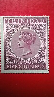 Trinidad 1883-84  QV  Five Shillings stamp