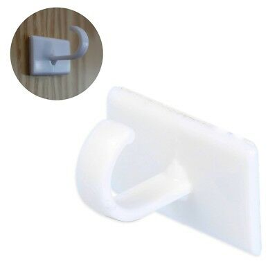 10x STRONG SELF ADHESIVE CUP HOOK Sticky Wall Door Stick On Flannel Towel Hanger
