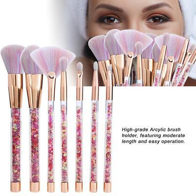 10pc Pro Makeup Brushes Set Kabuki Foundation Powder Eyeliner Eyeshadow Brush
