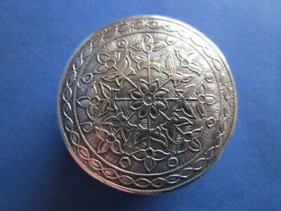 Pretty Old Silver Embossed Pill Box