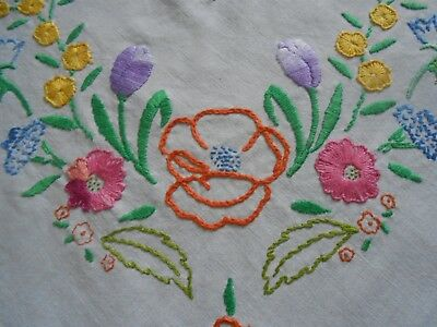 Beautiful Vintage Cotton  Hand Embroidered  Panel