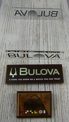 Watch Store Display Pieces Vintage Bulova Accutron Lot of 3