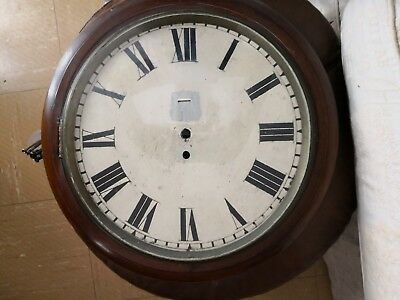 Very Large Wall Clock Case Spares Or Repairs 14 inch dial fusee