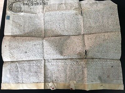 William III Indenture Dated 1696 With Red Wax Seals And Ornate Coat Of Arms (39)