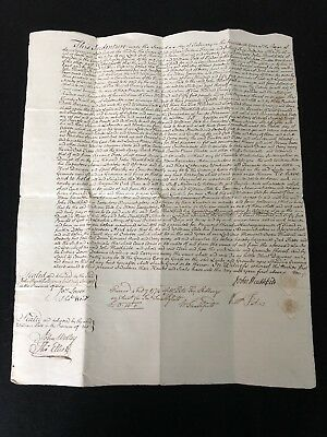 Rare George III Indenture With List Of Fielded Trees On Estate On Reverse (8)