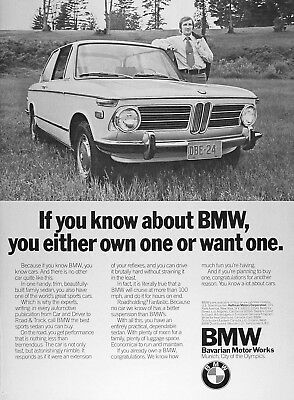 1973 BMW 2-Door Sedan Authentic Vintage Ad