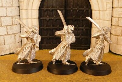 HALDIR'S ELF WARRIORS WITH SWORD - Lord Of The Rings 3 Metal Figure(s)