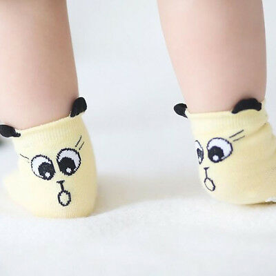 Unisex Baby Infant Boy Girl Cute Cartoon Toddler Anti-slip Cotton Socks S YT8