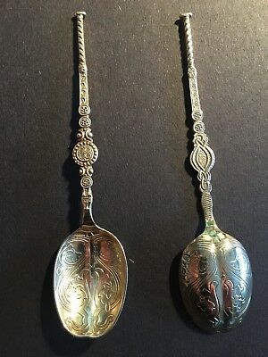 """solid silver and gilt anointing spoon Birmingham 1952 hallmarked 4.25"""""""