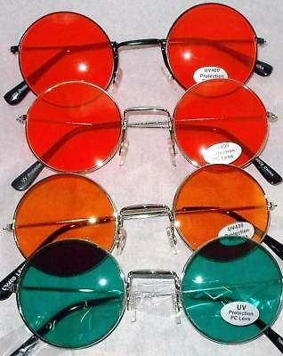 Close Out $5.00 Small John Lennon Round Colored Glasses Red Orange Green Only