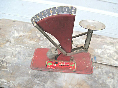 Vintage Antique Style,oakes sanitized Egg Scale on lable in good shape work well