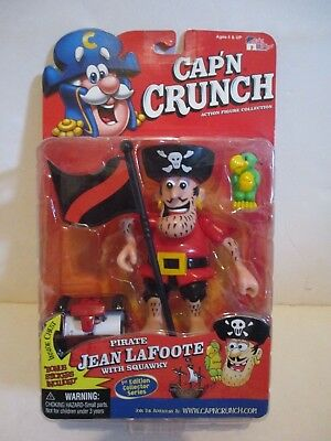 QUAKER OATS CAP'N CRUNCH CEREAL CHARACTER JEAN LaFOOTE ACTION FIGURE CARDED 2001