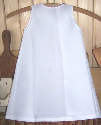 Baby Girl's White Amish Apron Holmes County, Ohio Size 18 Months ?