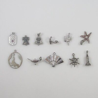 Various Charms Vintage Sterling Silver | Lot of 11 | 16.3g