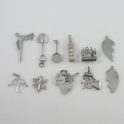Various Charms Vintage Sterling Silver | Lot of 11 | 19.8g