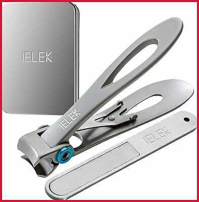 Nail Clippers Fingernail Toenail Nippers with File Set - 15mm Wide Jaw Opening D