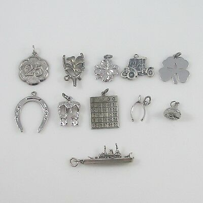 Various Charms Vintage Sterling Silver | Lot of 11 | 24.6g