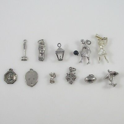 Various Charms Vintage Sterling Silver | Lot of 11 | 20.5g