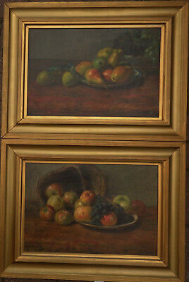"""""""abel Hold"""" 1815 - 1893 Fine Pair Of Still Life Oil Paintings  Dated 1863"""